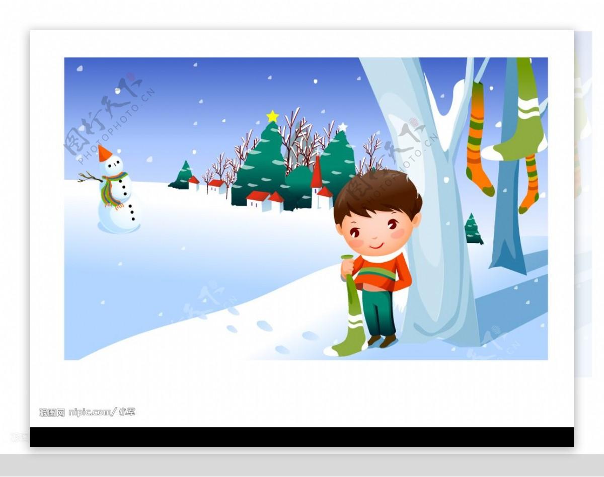 韩国矢量卡通儿童图片